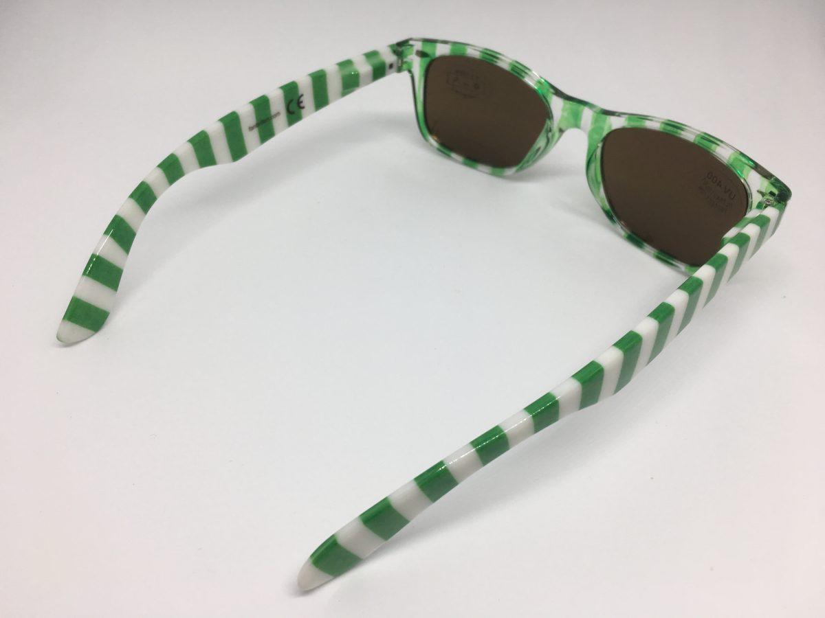 Sonnenbrille grün-weiß - fanbrillen.com